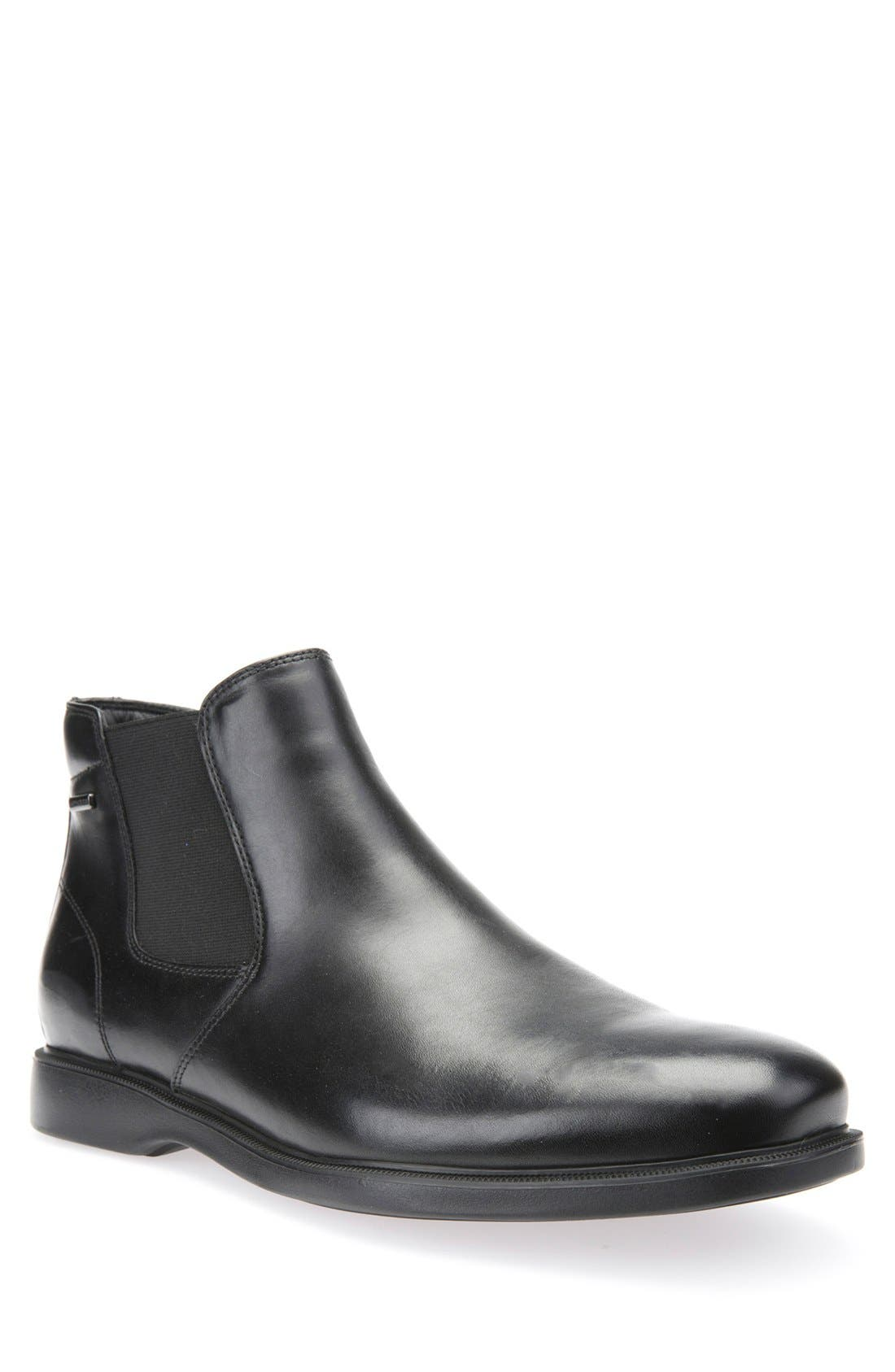Brayden ABX Waterproof Mid Chelsea Boot,                             Main thumbnail 1, color,                             Black Leather