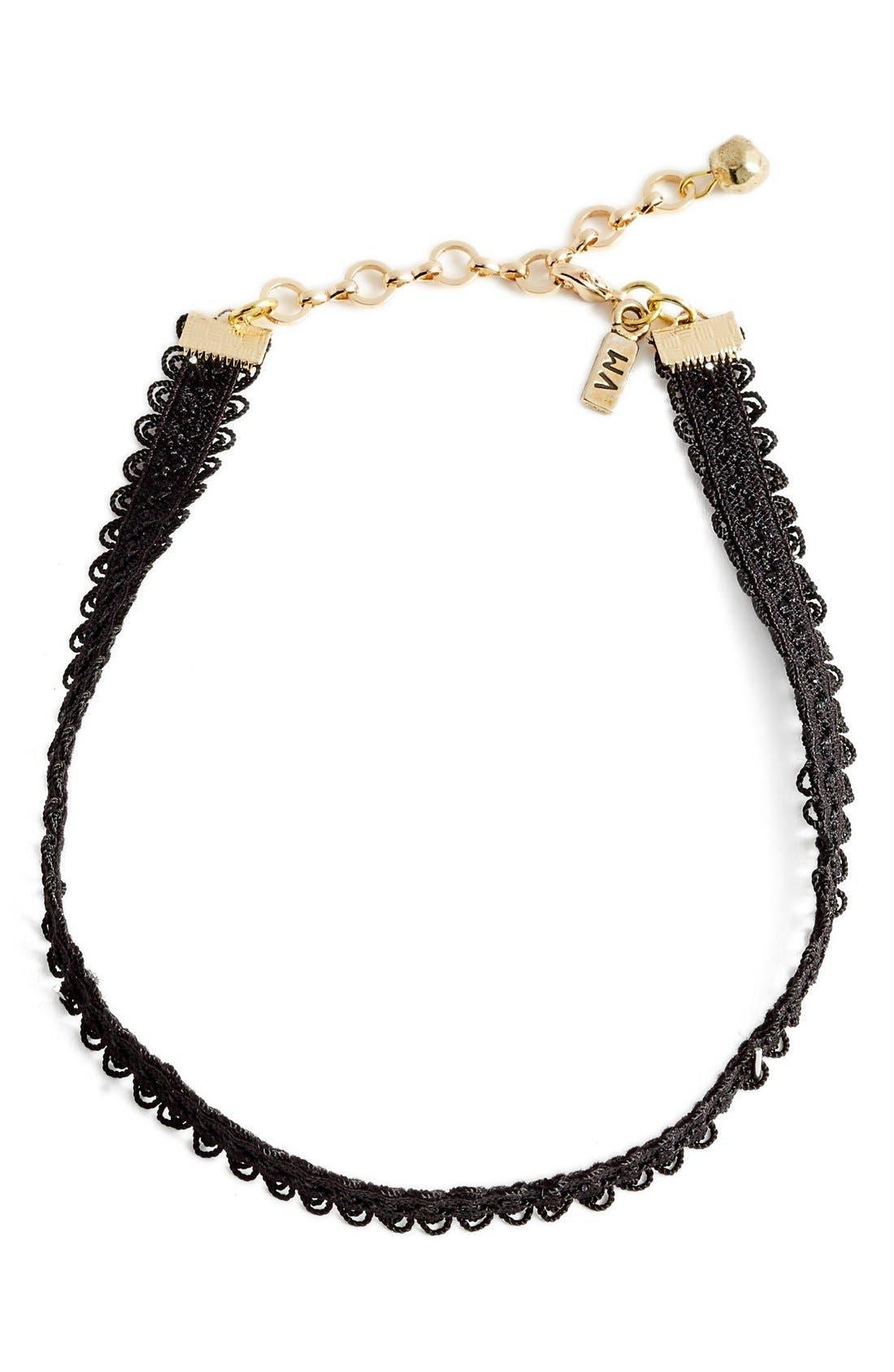 Alternate Image 3  - Vanessa Mooney Black Lace Choker