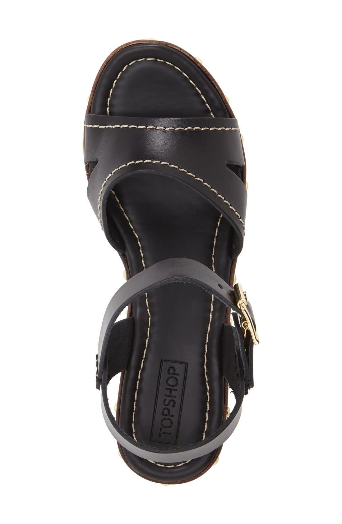 'VIV' Clog Sandals,                             Alternate thumbnail 3, color,                             Black