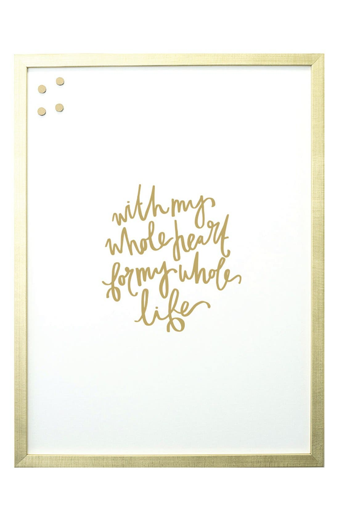 Petal Lane 'With My Whole Heart' Magnet Board,                         Main,                         color, Gold