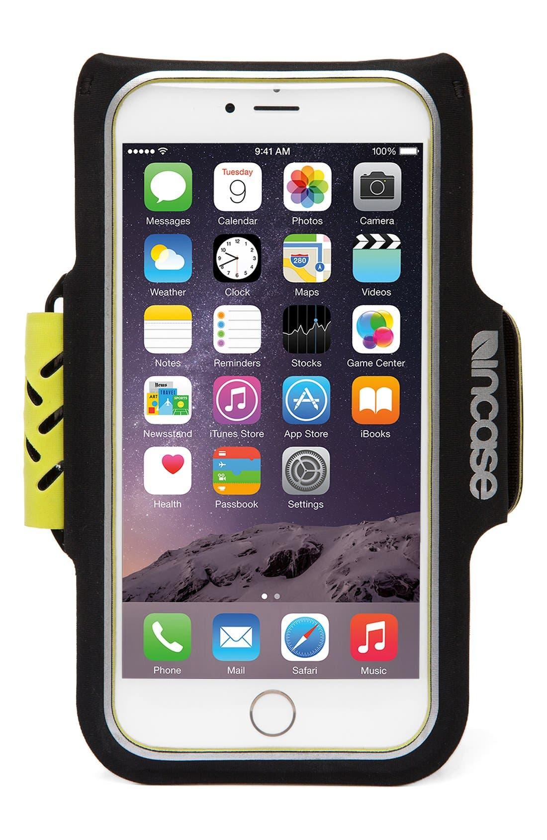 iPhone 6/6s Armband,                             Alternate thumbnail 3, color,                             Black/ Lumen