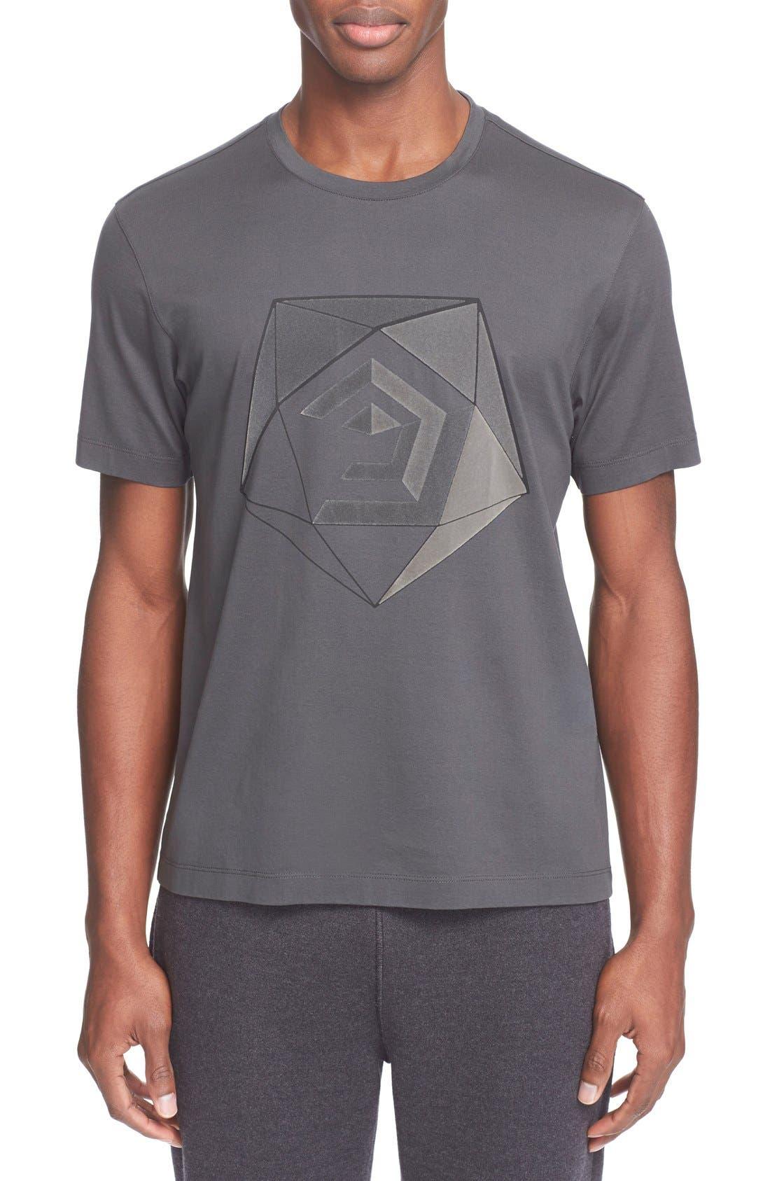 Alternate Image 1 Selected - Z Zegna Flocked Graphic T-Shirt