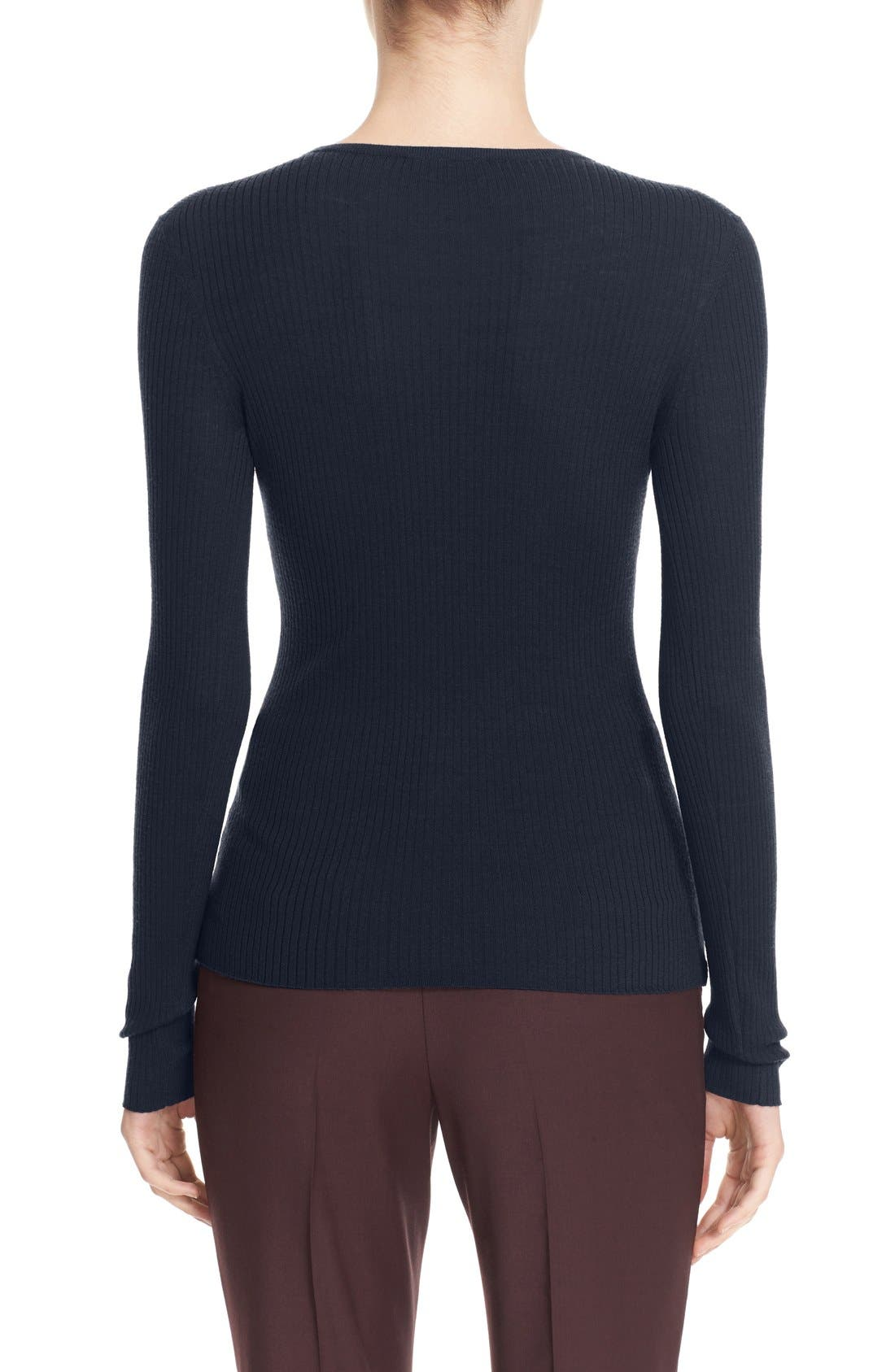 Alternate Image 2  - Theory 'Mirzi' Rib Knit Merino Wool Sweater