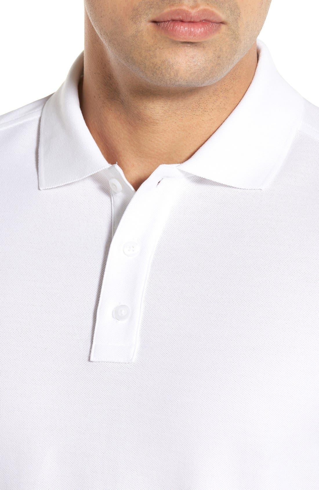 Classic Regular Fit Piqué Polo,                             Alternate thumbnail 4, color,                             White