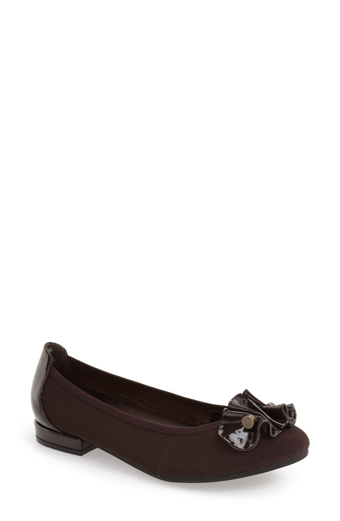 'Alice' Flat,                         Main,                         color, Brown Fabric