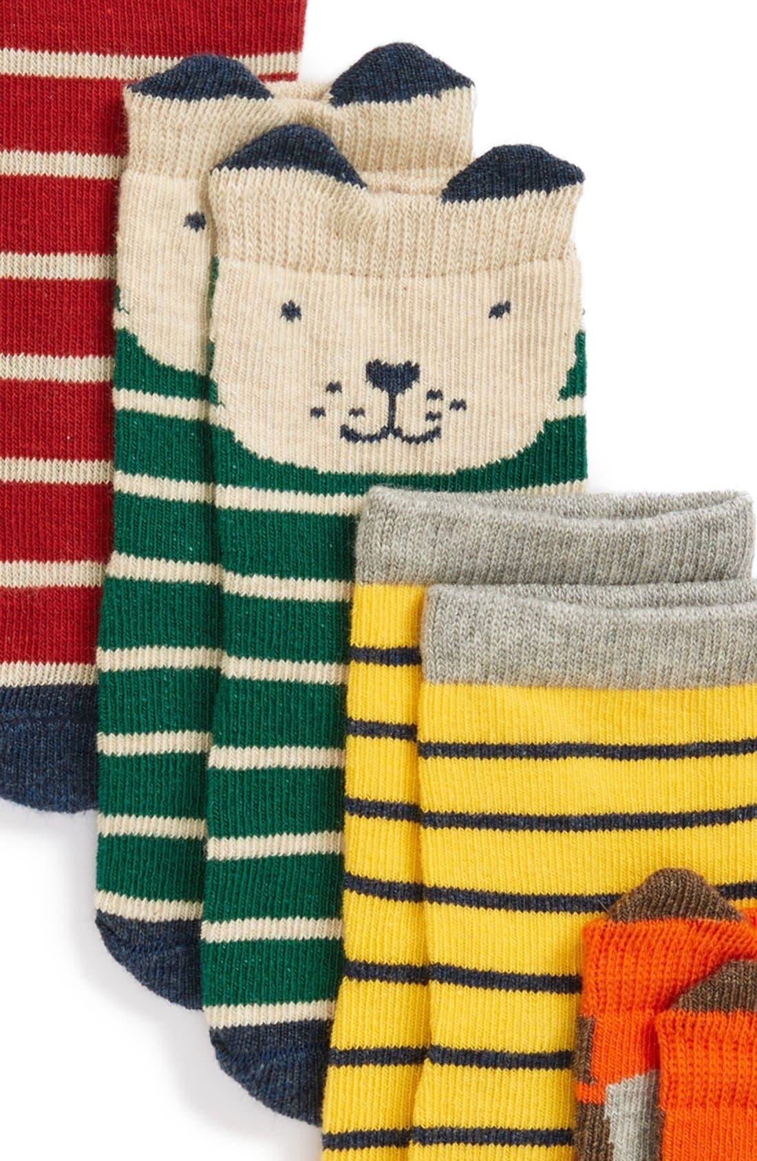 Alternate Image 2  - Tucker + Tate Print 6-Pack Crew Socks (Baby Boys)