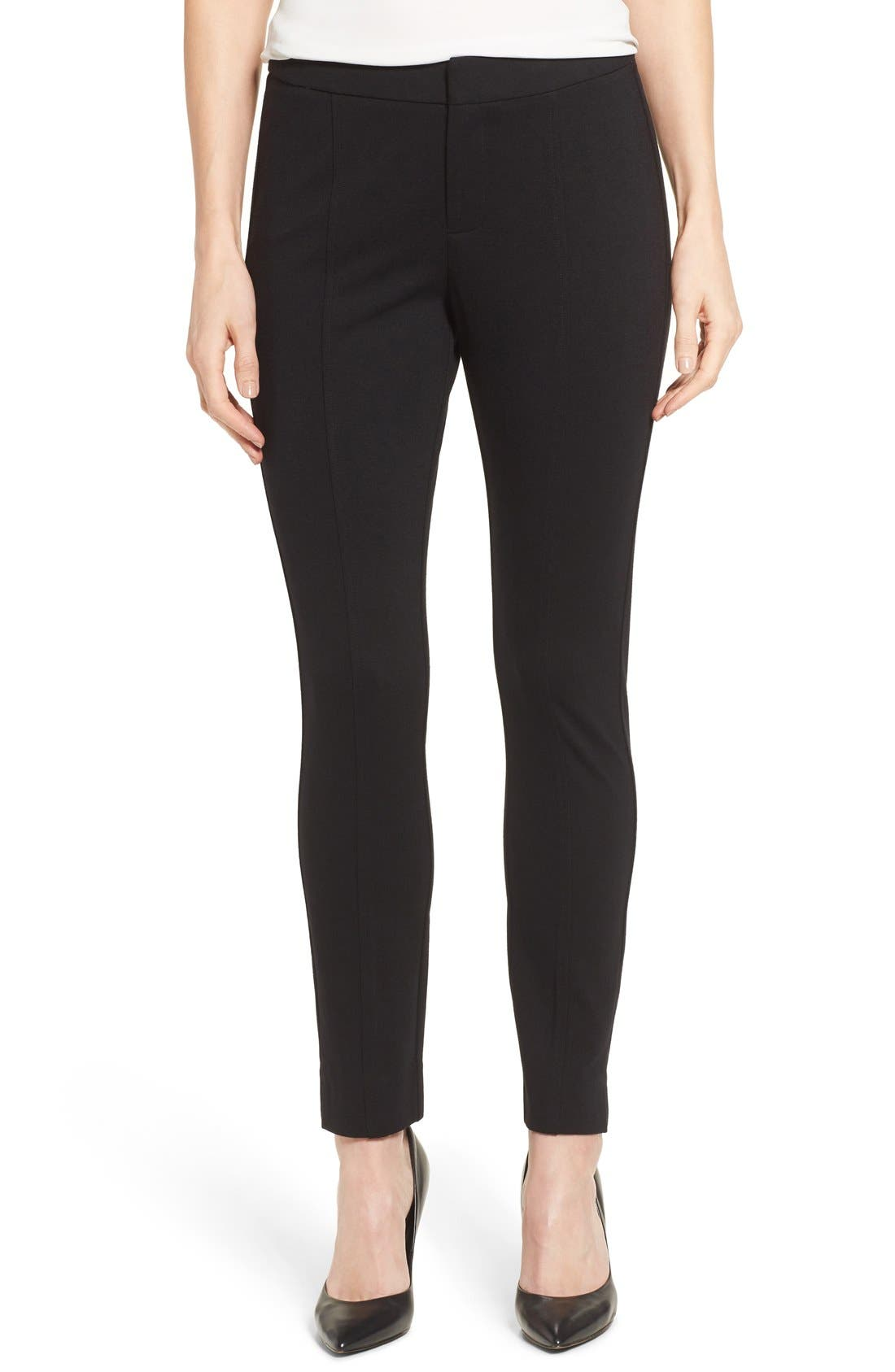 Betty Stretch Ankle Pants,                             Main thumbnail 1, color,                             Black