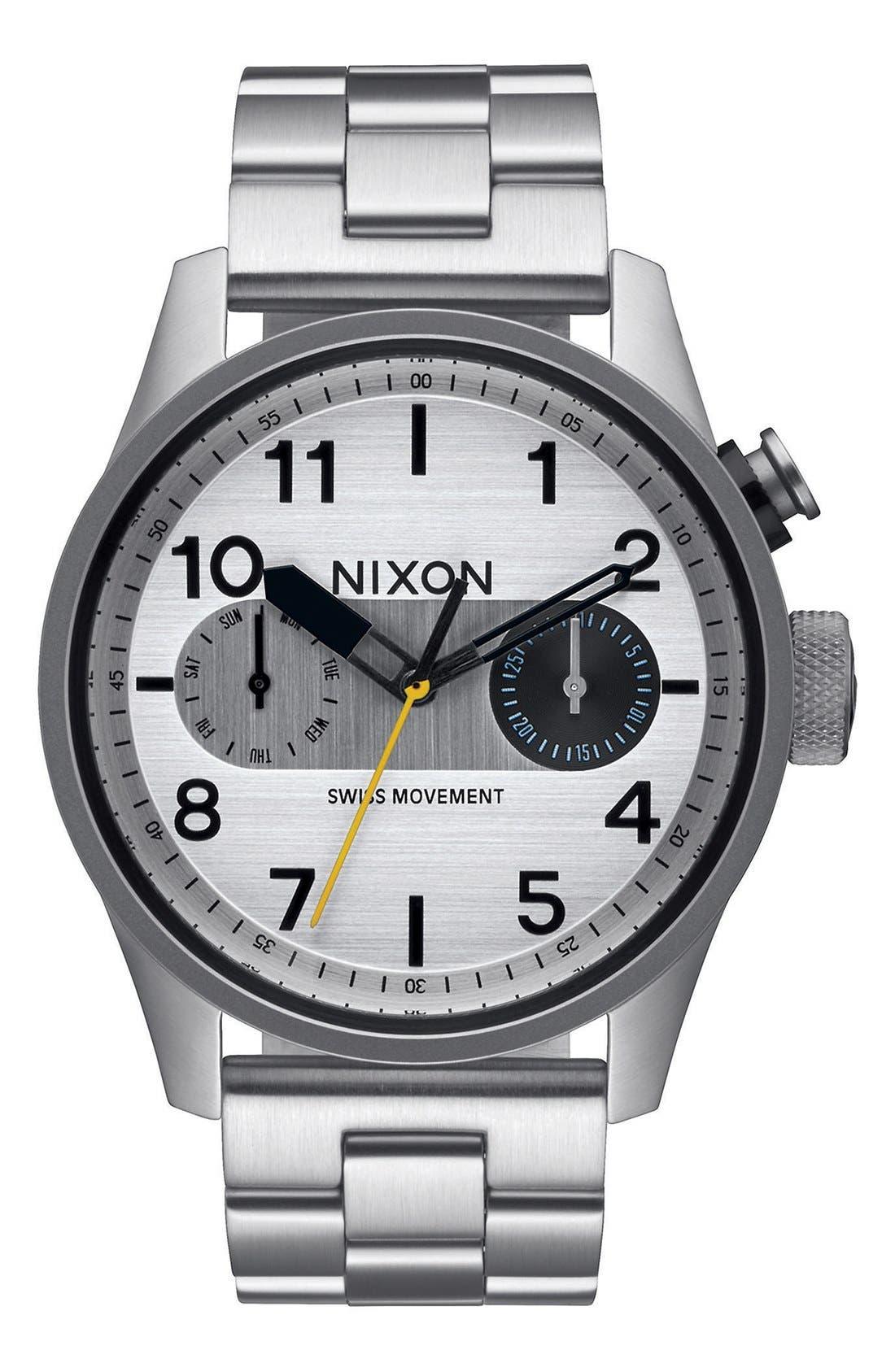 NIXON Safari Deluxe Bracelet Watch, 43mm