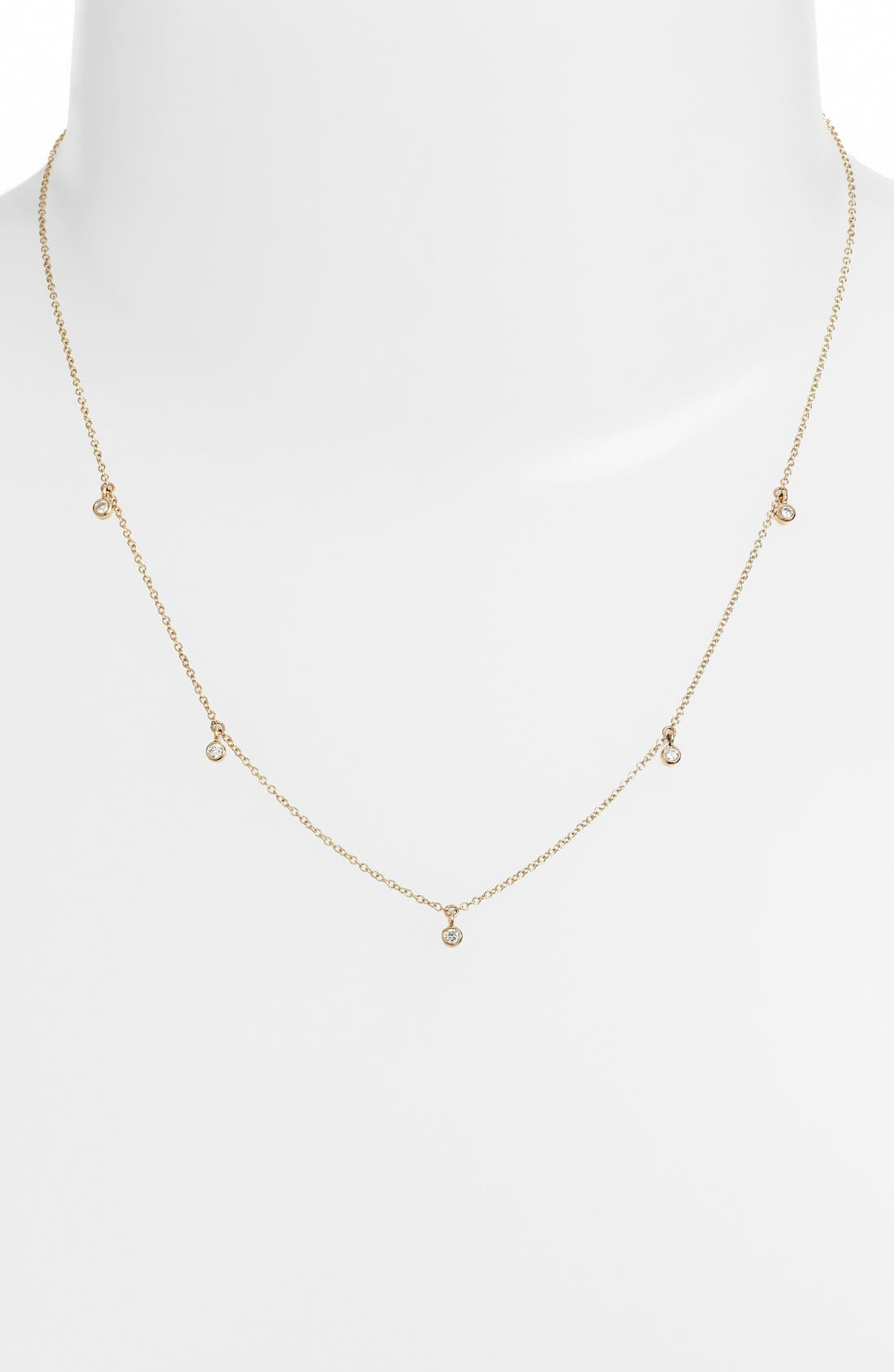 Diamond Strand Necklace,                             Main thumbnail 1, color,                             Yellow Gold