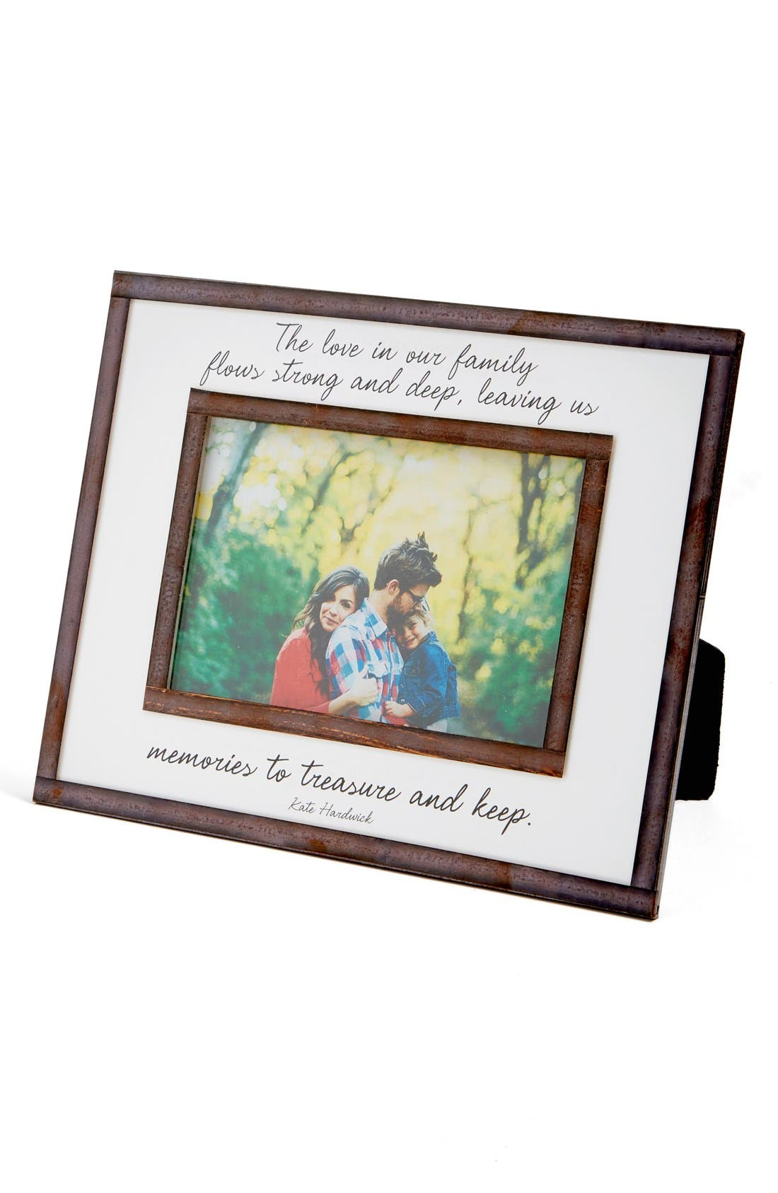 Love in Our Family Picture Frame,                             Main thumbnail 1, color,                             Brown