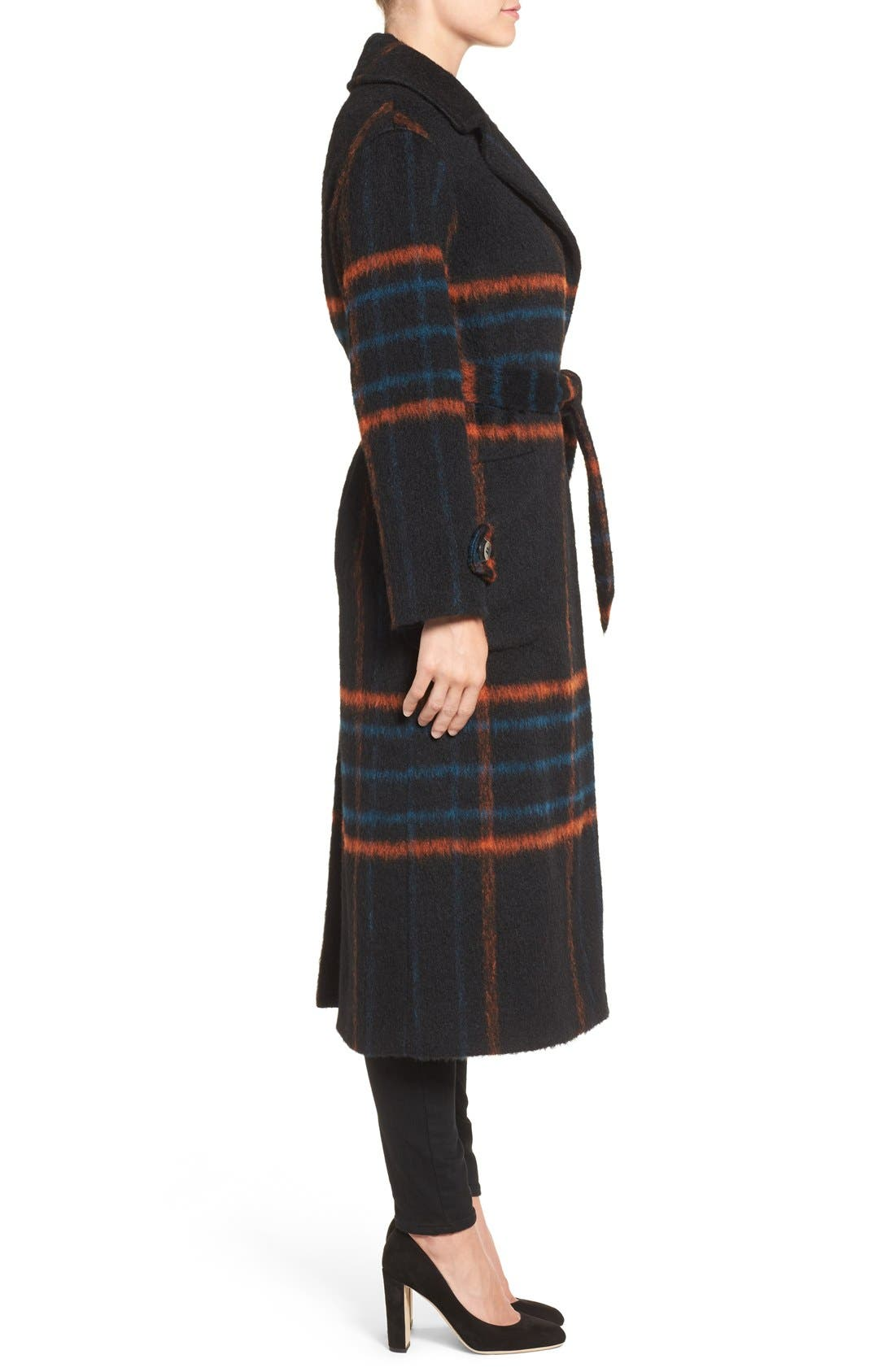 Alternate Image 3  - Trina Turk 'Margaret' Check Wrap Coat