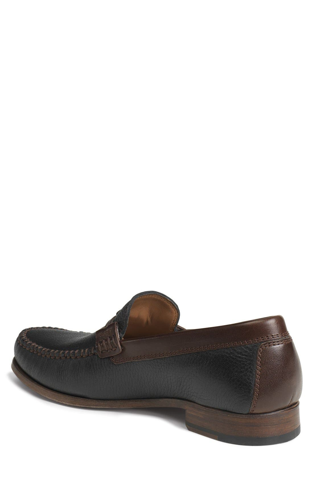 'Sawyer' Loafer,                             Alternate thumbnail 2, color,                             Black