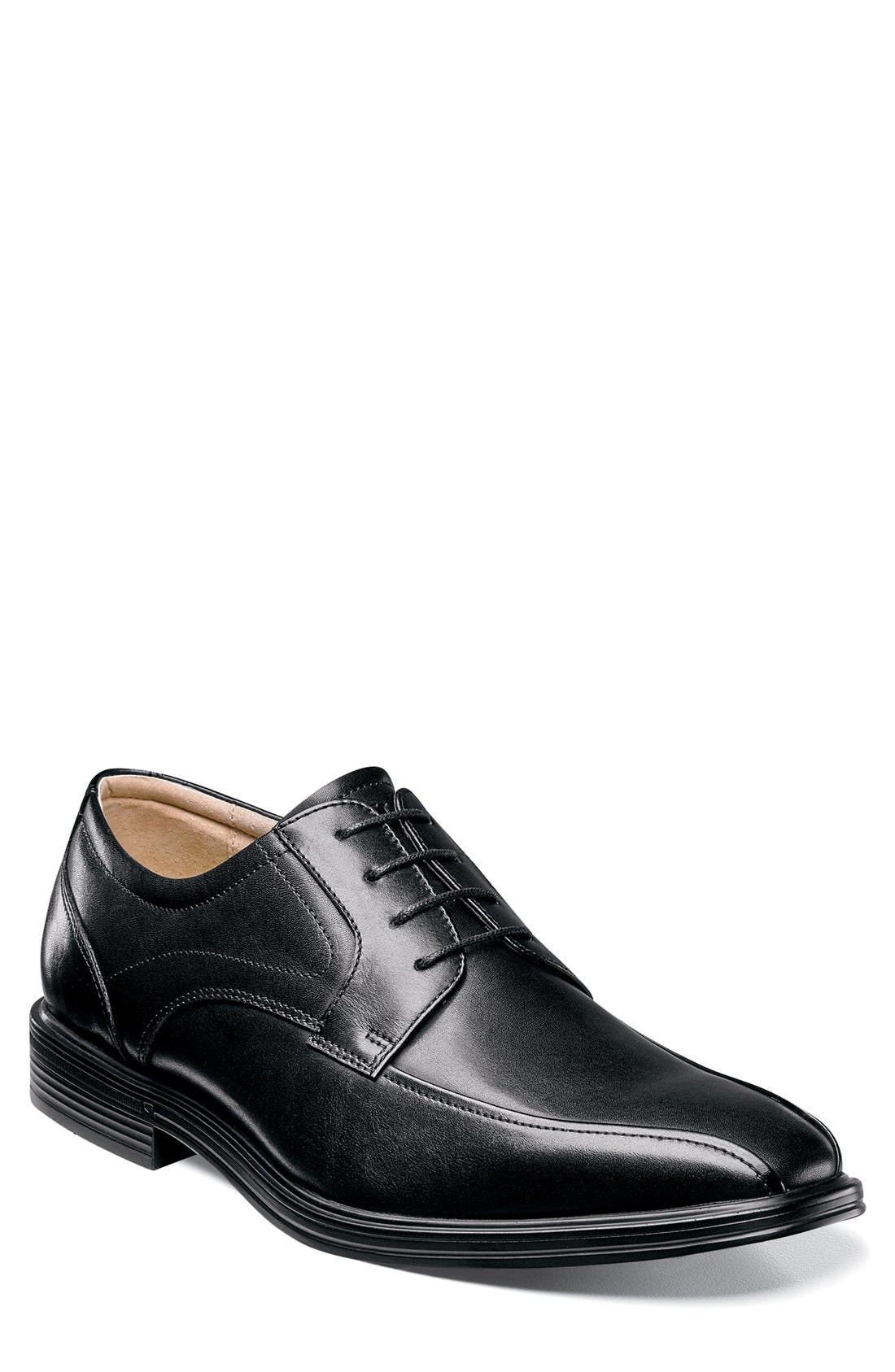'Heights' Bike Toe Derby,                         Main,                         color, Black Leather