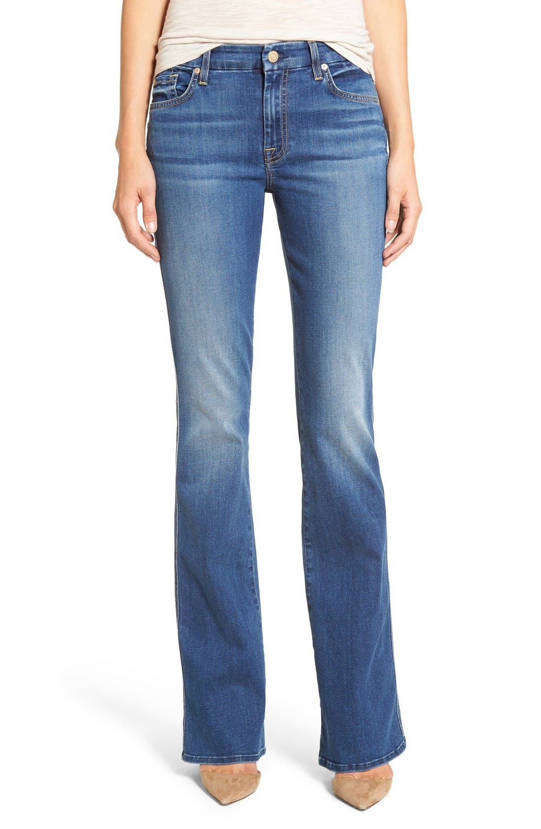 Main Image - 7 For All Mankind® 'b(air) - A Pocket' Flare Jeans (Reign)