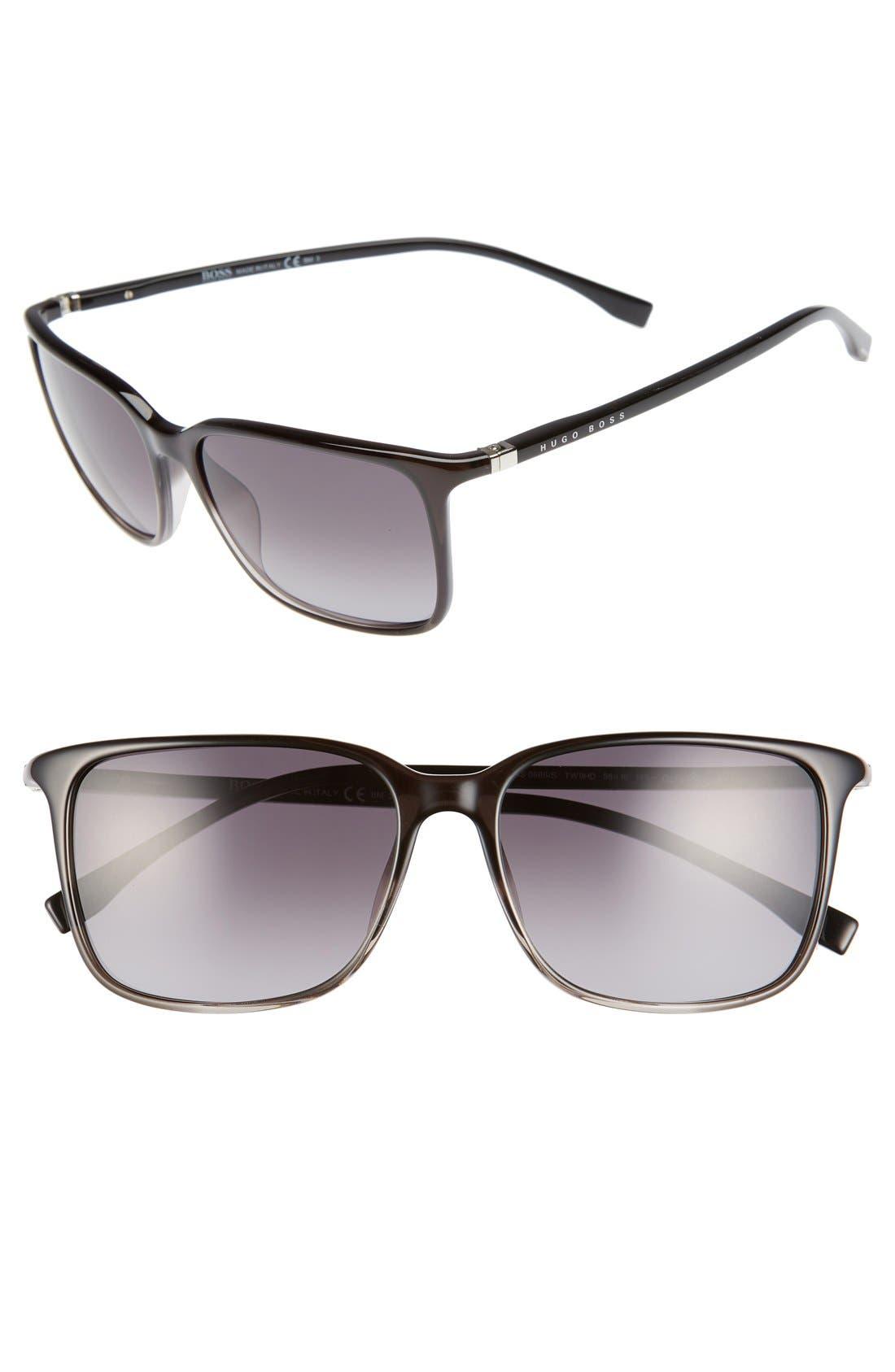 Alternate Image 1 Selected - BOSS '0666/S' 52mm Sunglasses