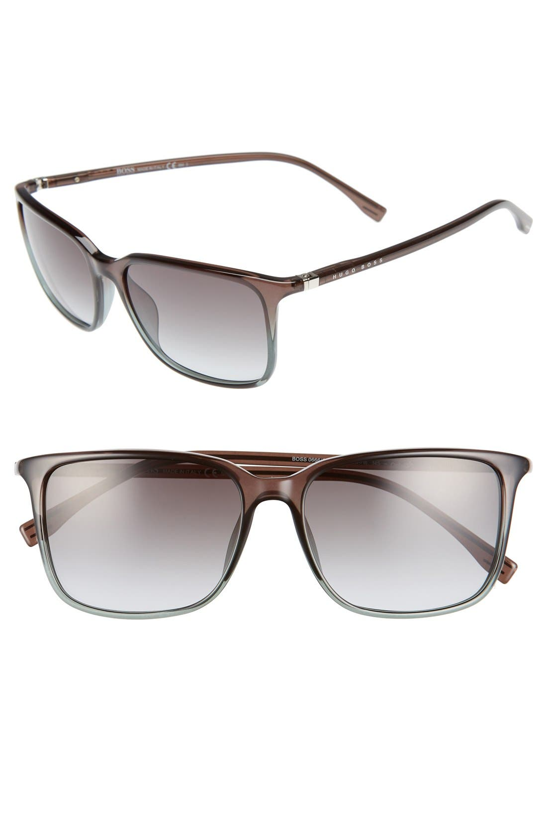 '0666/S' 52mm Sunglasses,                         Main,                         color, Shaded Petroleum Brown