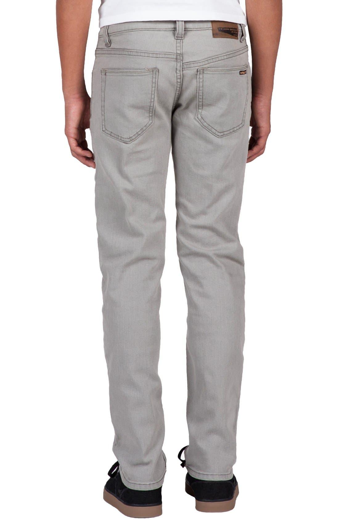 'Solver' Straight Leg Denim Jeans,                             Alternate thumbnail 2, color,                             Old Grey