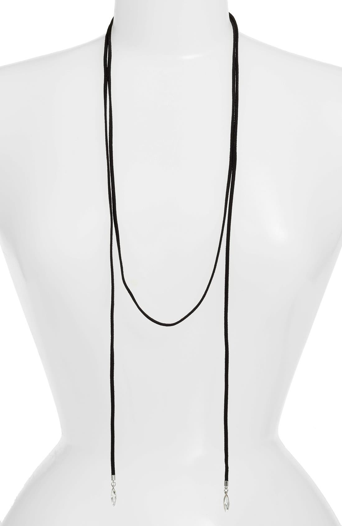 Alternate Image 3  - CRISTABELLE Long Wrap Choker Necklace
