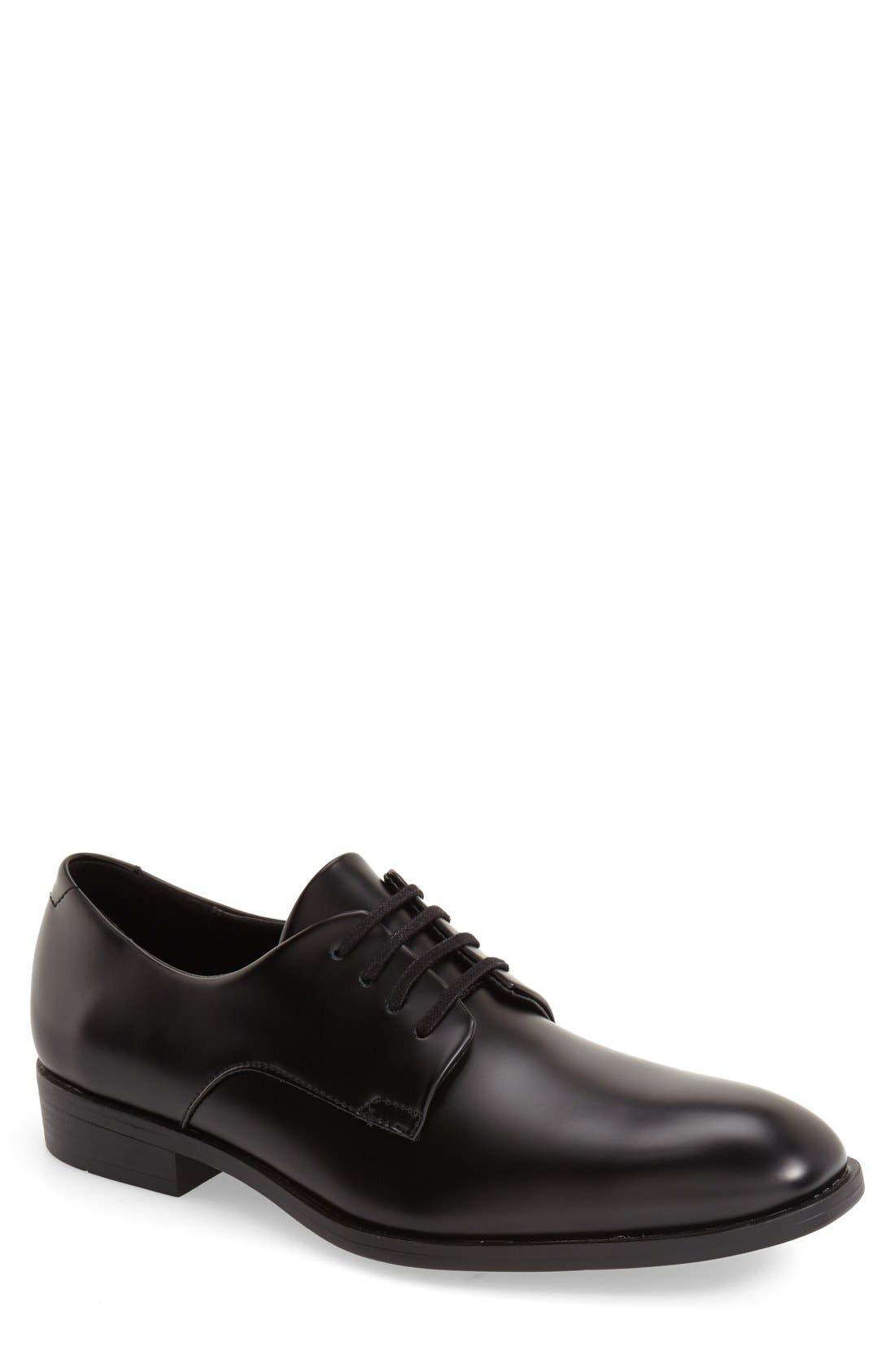 'Dorrel' Plain Toe Derby,                             Main thumbnail 1, color,                             Black