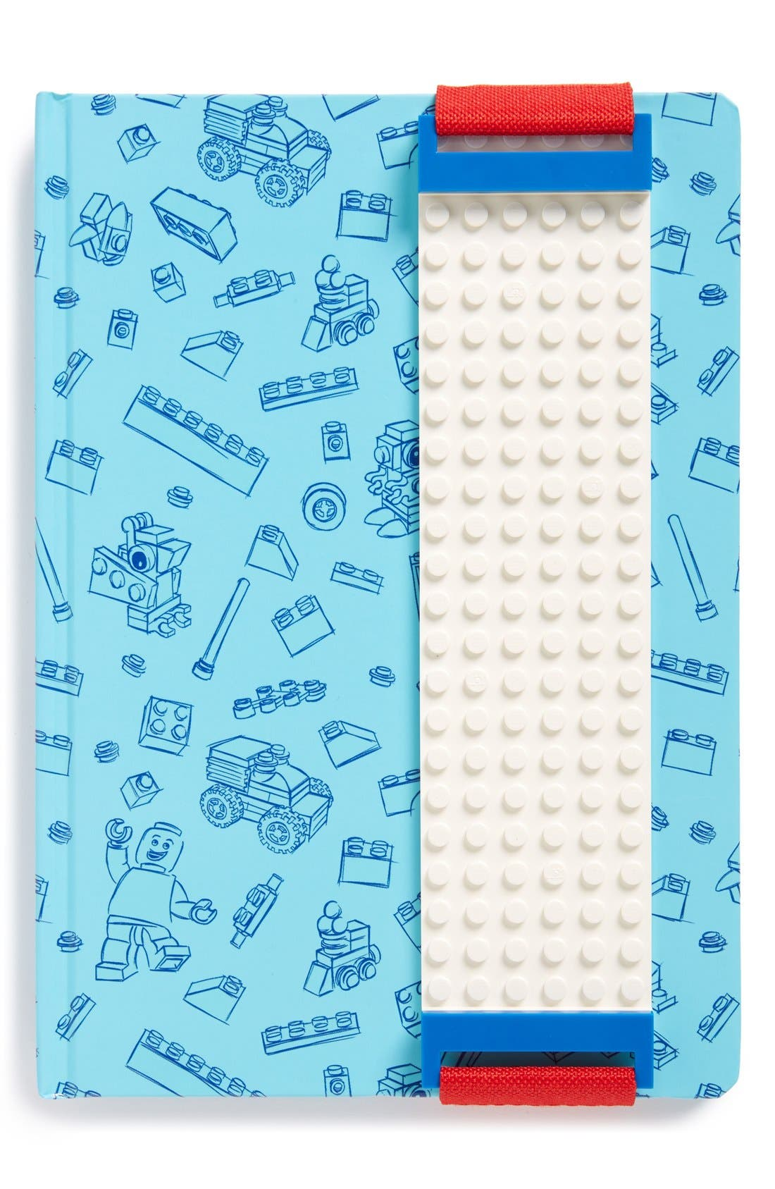Blue Journal with White Band,                             Main thumbnail 1, color,                             Blue