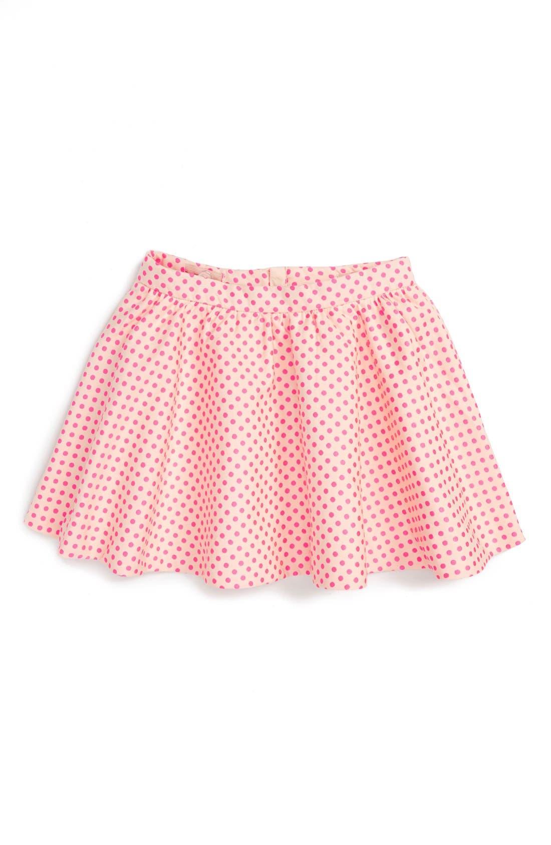 Alternate Image 1 Selected - kate spade new york 'coreen' dot jacquard skirt (Toddler Girls & Little Girls)