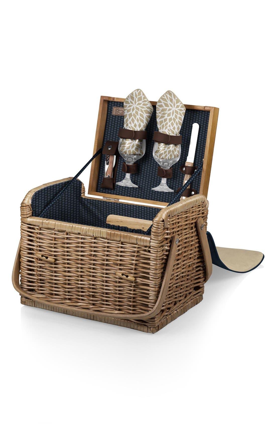 PicnicTime 'Kabrio' Wine & Cheese Picnic Basket,                         Main,                         color, Blue