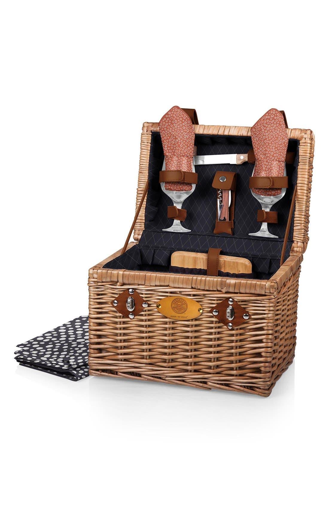 Alternate Image 1 Selected - Picnic Time 'Napa' Wicker Picnic Basket