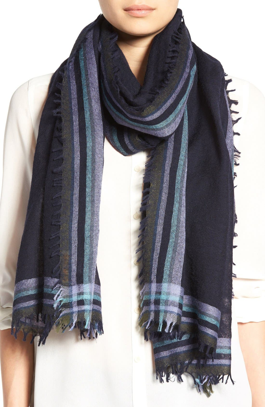 Tory Burch 'Signature' Wool Scarf