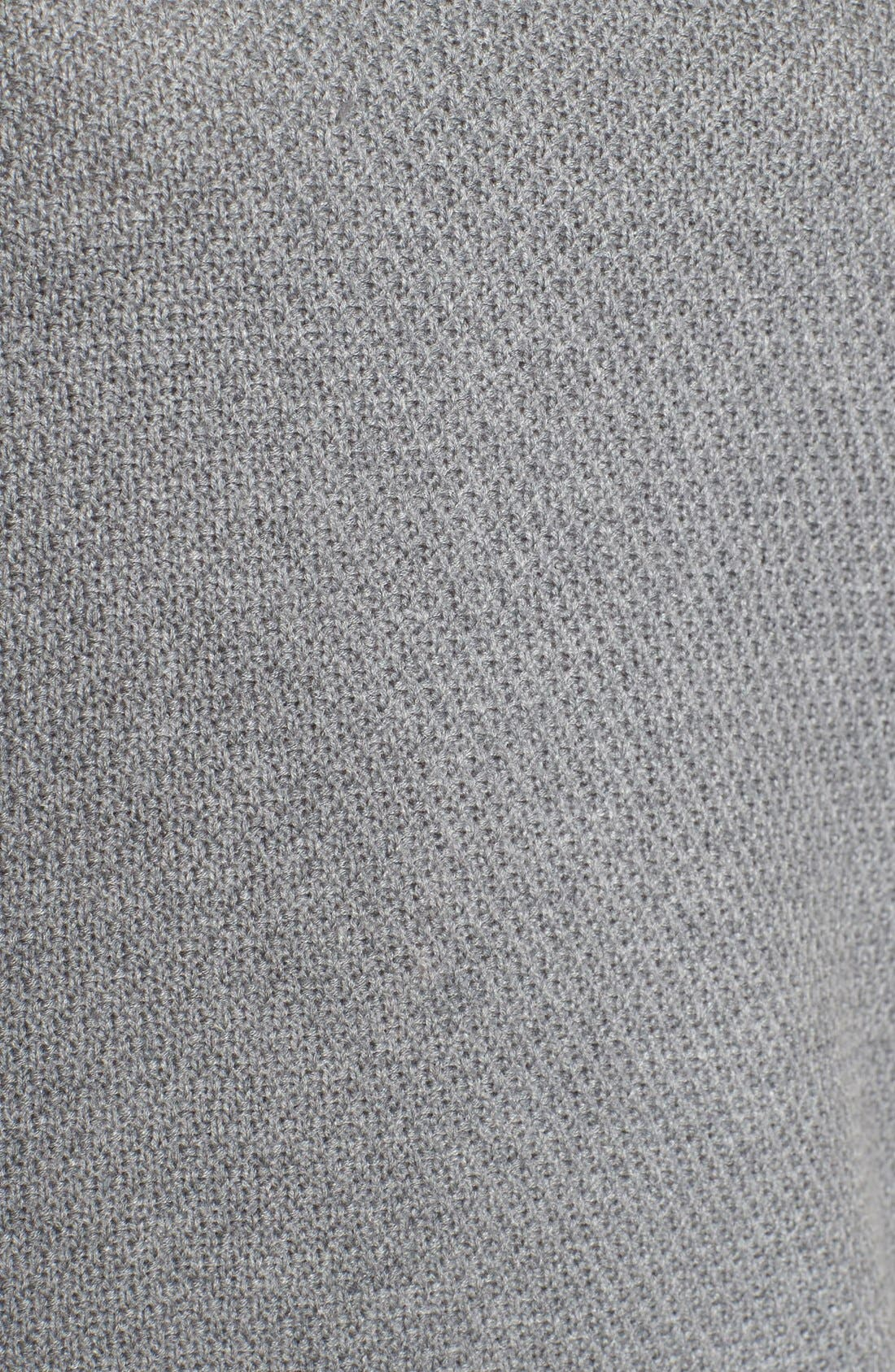 Texture Knit Tunic,                             Alternate thumbnail 5, color,                             Grey Texture Pattern