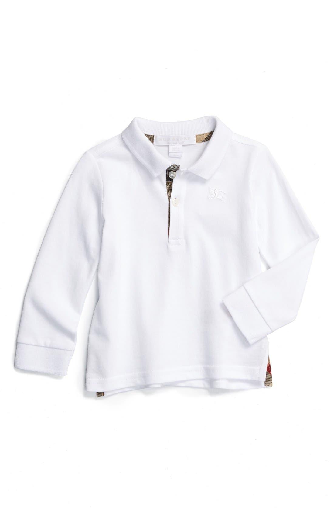 Burberry 'Palmer' Long Sleeve Polo (Baby Boys)