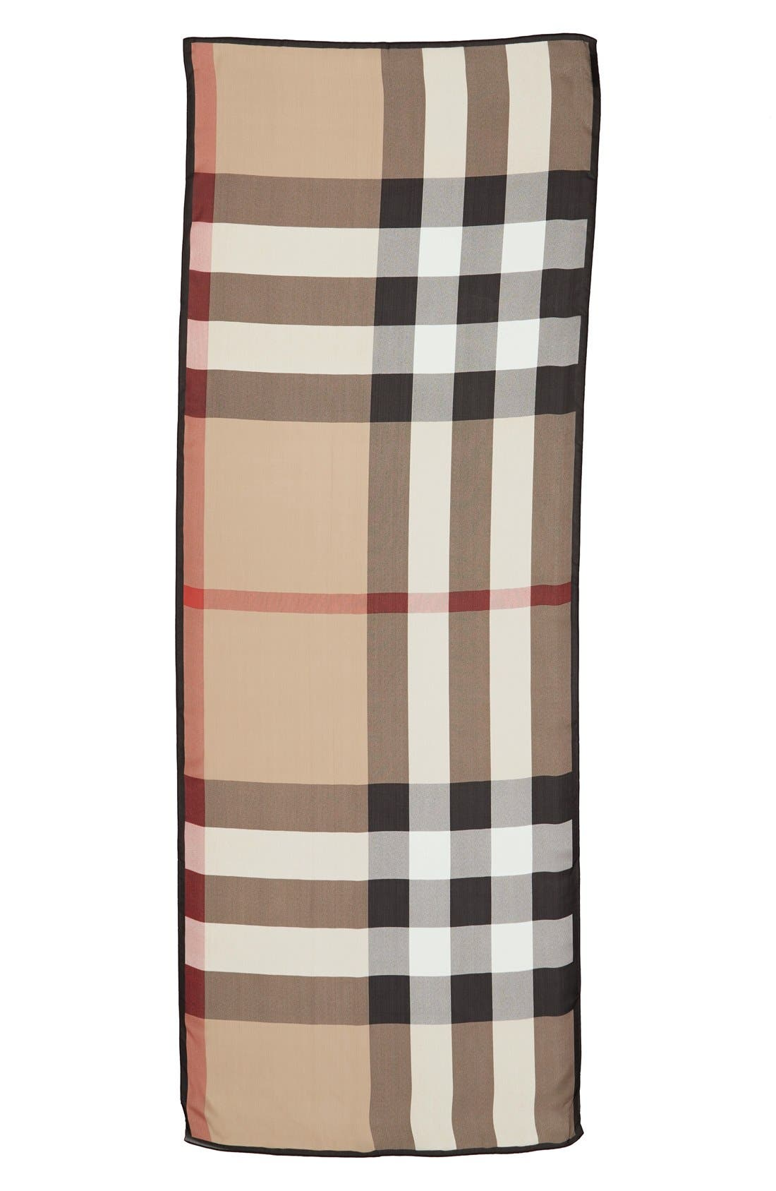 Alternate Image 3  - Burberry 'Ultra Mega Check' Washed Mulberry Silk Scarf