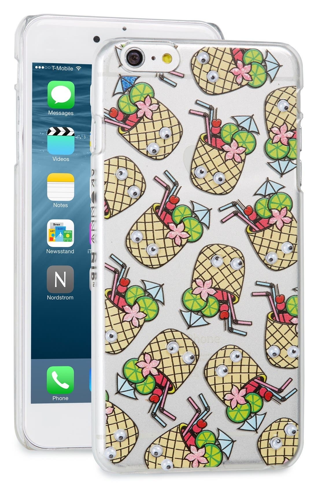 Main Image - Skinnydip Googly Cocktail iPhone 6 Plus/6s Plus Case