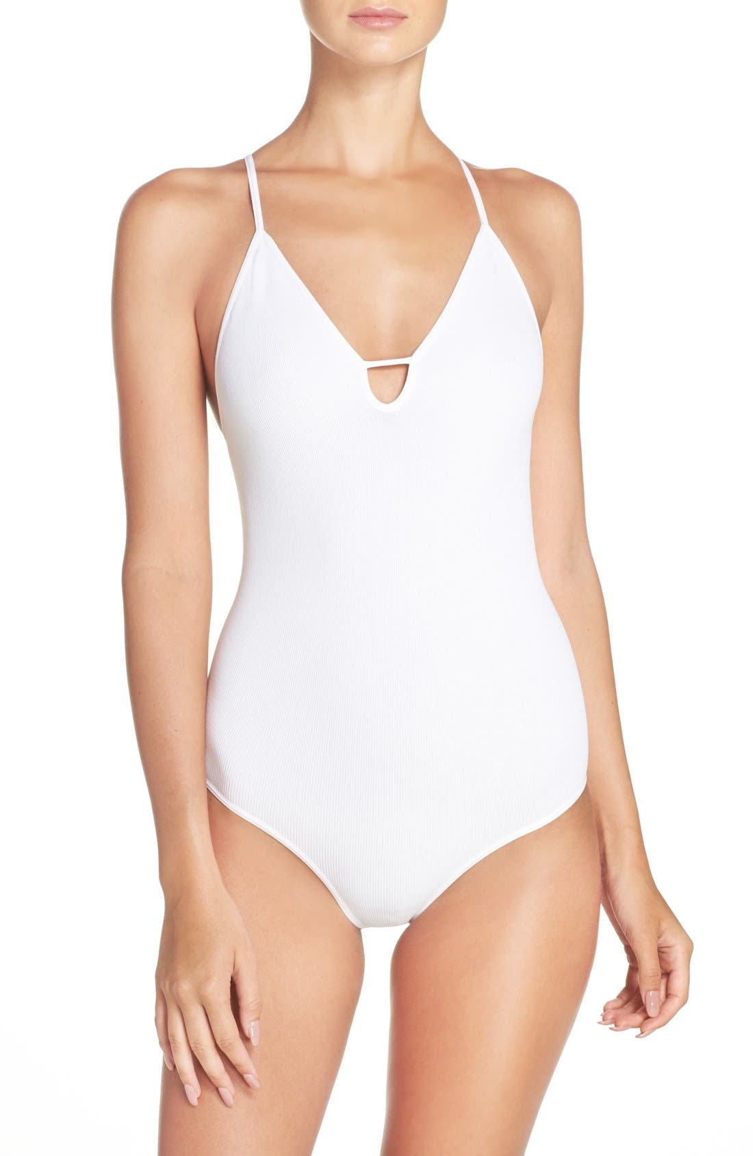 Free People Intimately FP Move Along Racerback Bodysuit