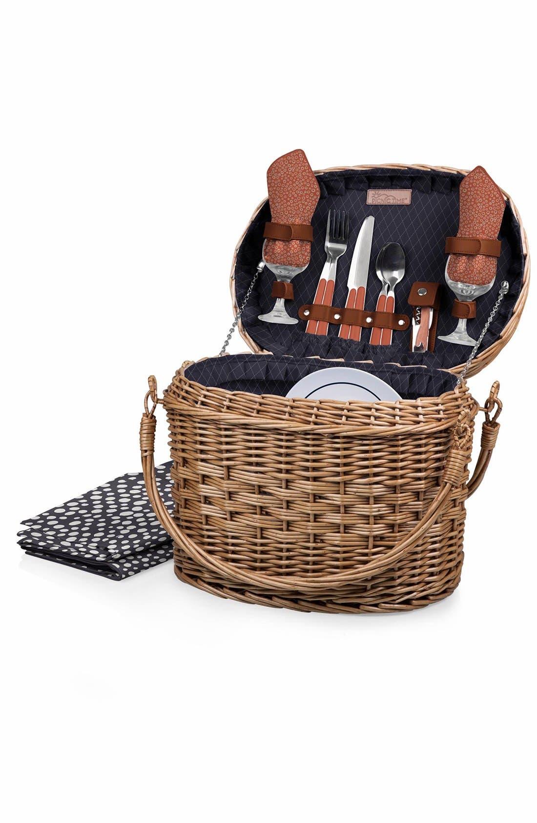 'Romance' Picnic Basket,                         Main,                         color, Blue