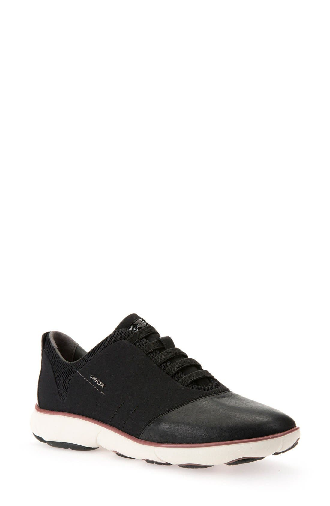 'Nebula' Sneaker,                         Main,                         color, Black Leather