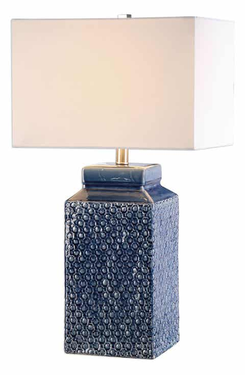 Blue table lamps lighting lamps fans nordstrom uttermost sapphire glazed ceramic table lamp aloadofball Choice Image