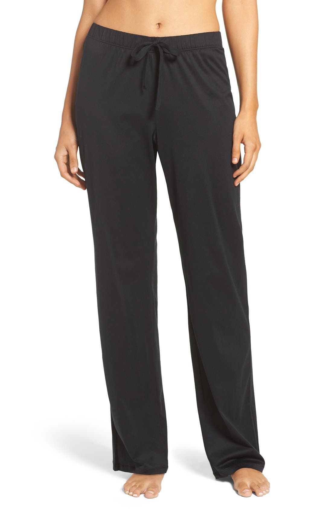 Cotton Lounge Pants,                         Main,                         color, Black
