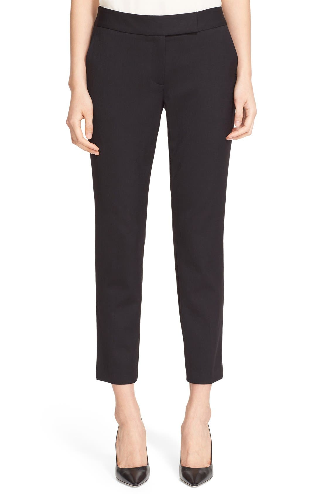 Alternate Image 1 Selected - Milly Stretch Wool Skinny Ankle Pants
