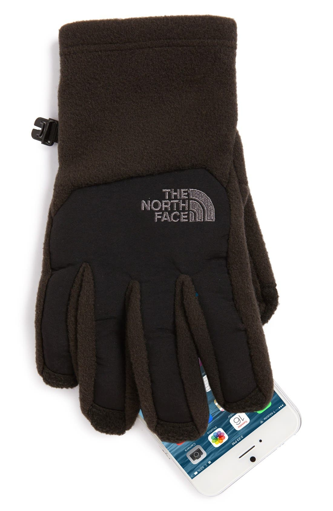 Alternate Image 2  - The North Face Denali E-Tip Fleece Tech Gloves (Boys)