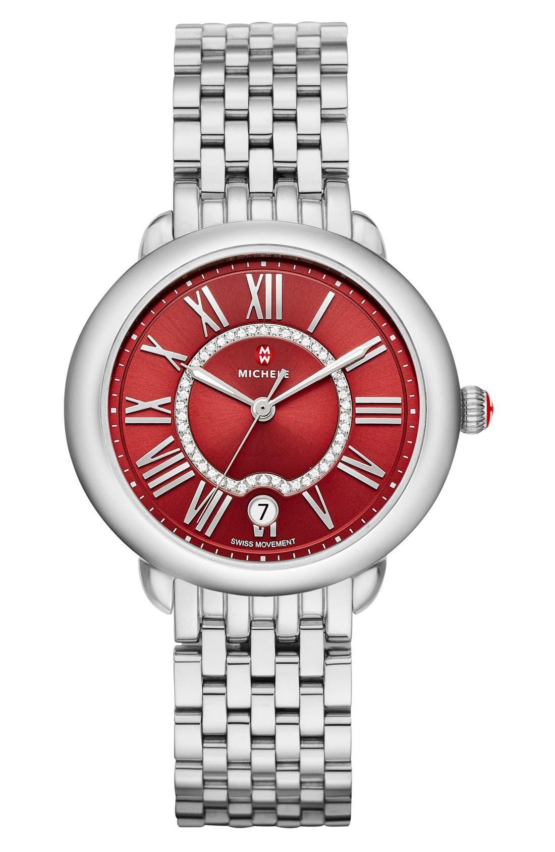 Serein 16 16mm Bracelet Watchband,                             Main thumbnail 1, color,                             Silver