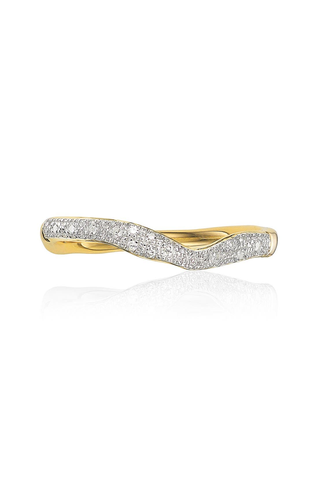 Alternate Image 2  - Monica Vinader 'Riva' Diamond Stacking Ring