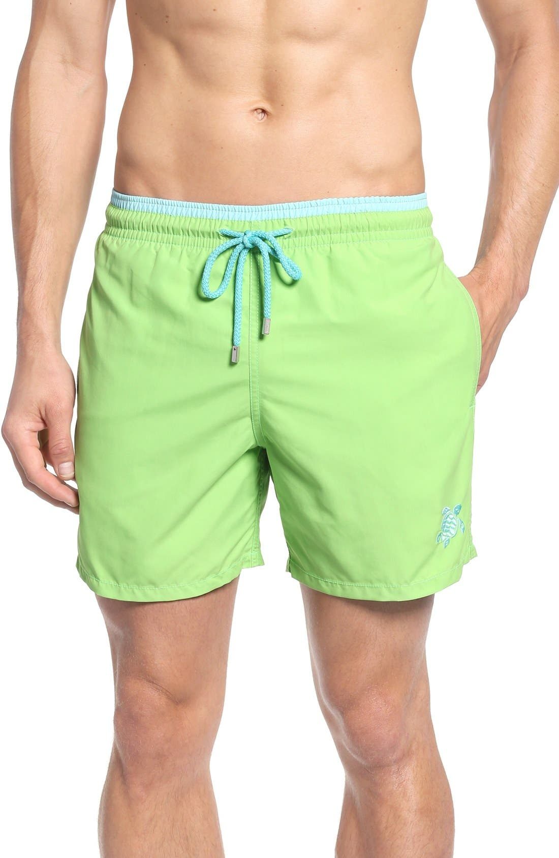 Swim Trunks,                             Main thumbnail 1, color,                             Wasabi