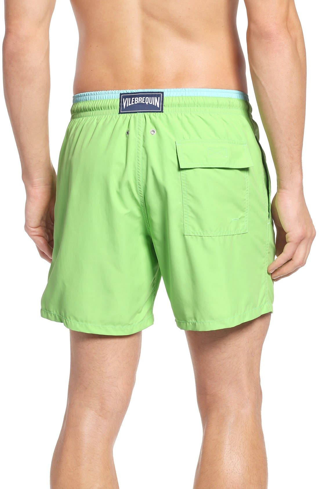 Swim Trunks,                             Alternate thumbnail 2, color,                             Wasabi
