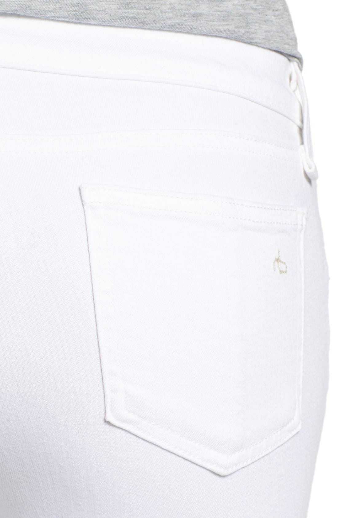 Alternate Image 4  - rag & bone/JEAN 'Capri' Skinny Crop Jeans (Bright White)