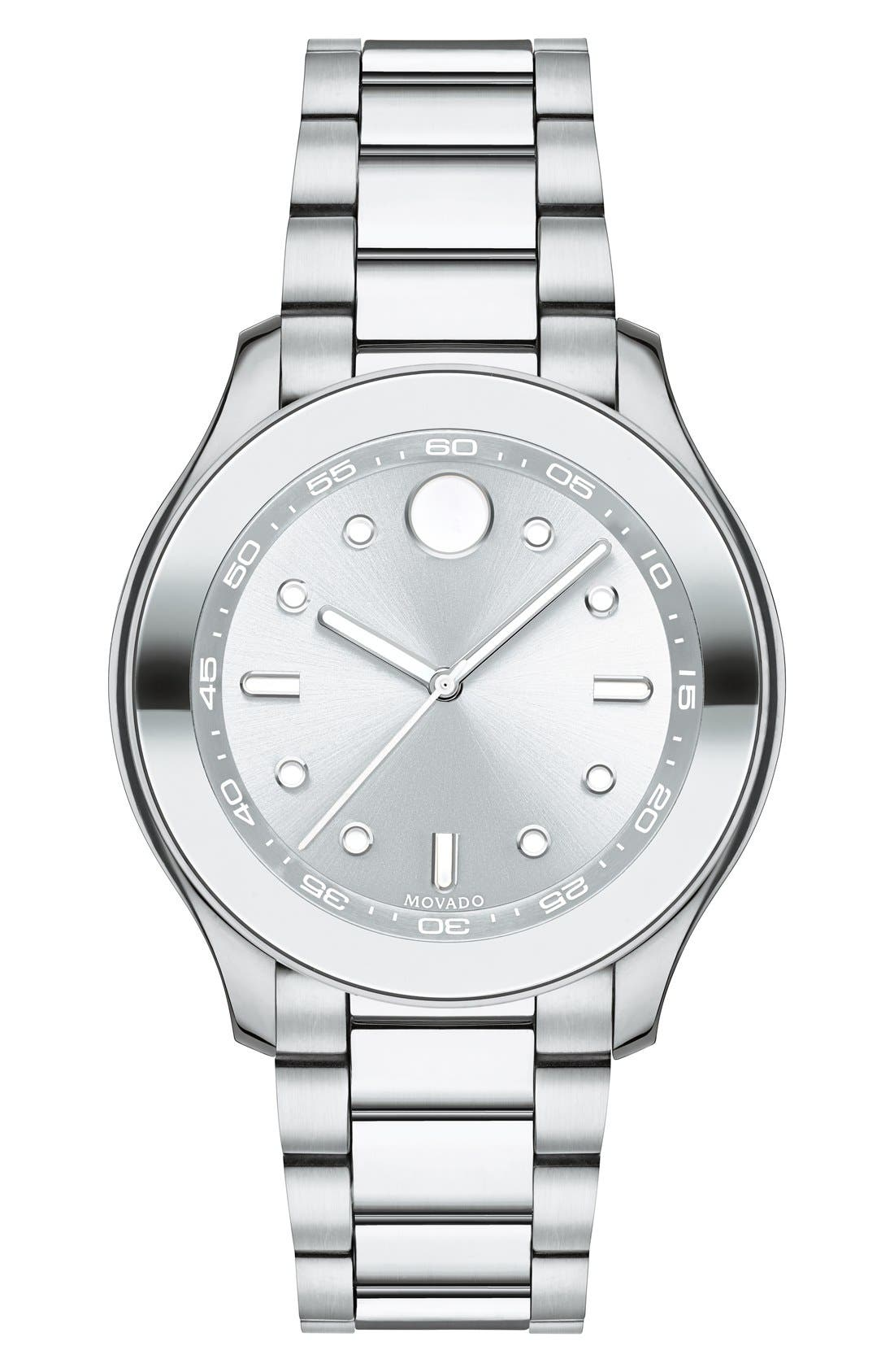 'Bold' Bracelet Watch, 38mm,                             Main thumbnail 1, color,                             Silver