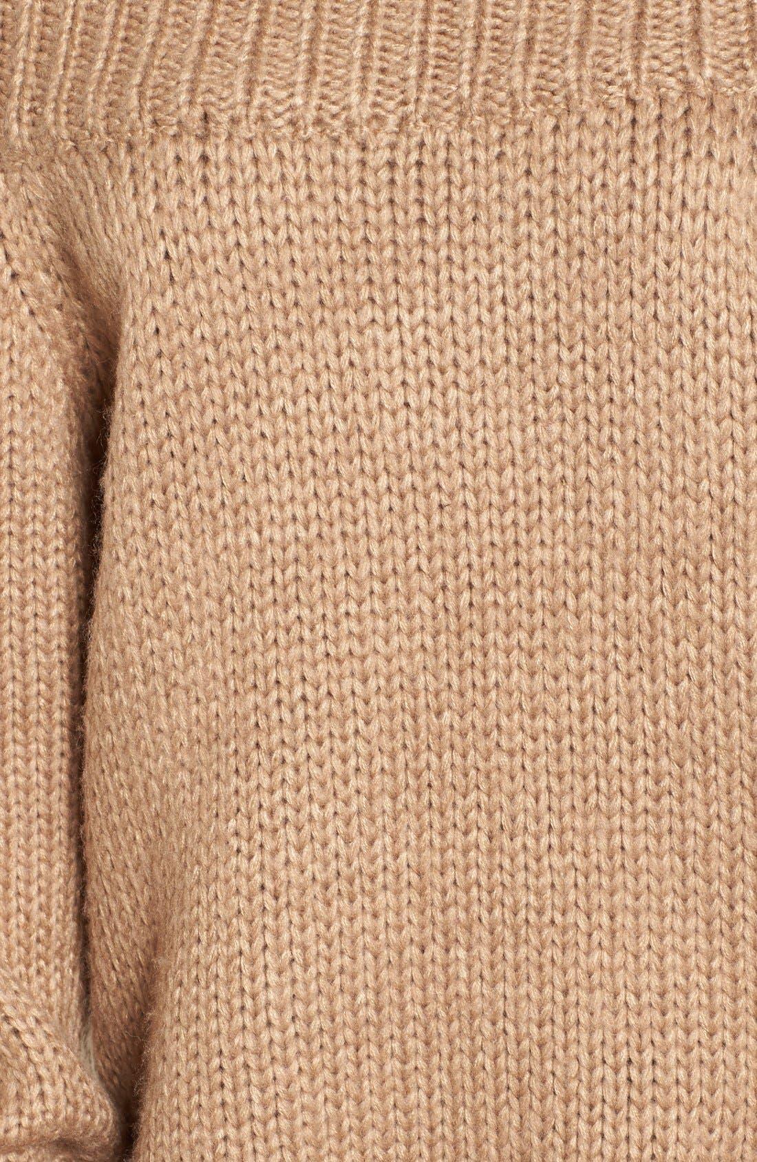 Alternate Image 6  - Cotton Emporium Off the Shoulder Knit Pullover