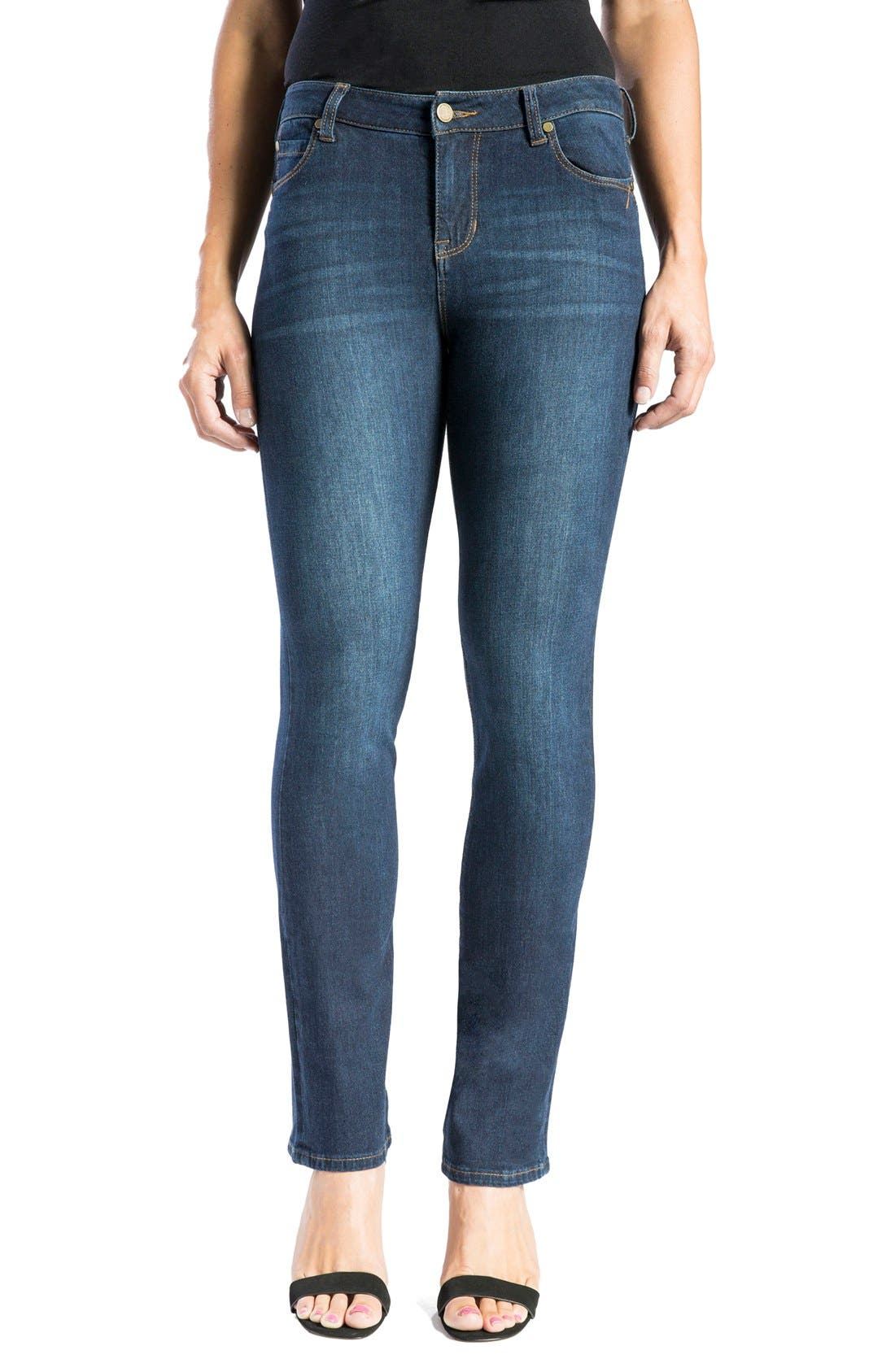 Alternate Image 1 Selected - Liverpool Jeans Company 'Remy - Hugger' Straight Leg Jeans (Corvus)