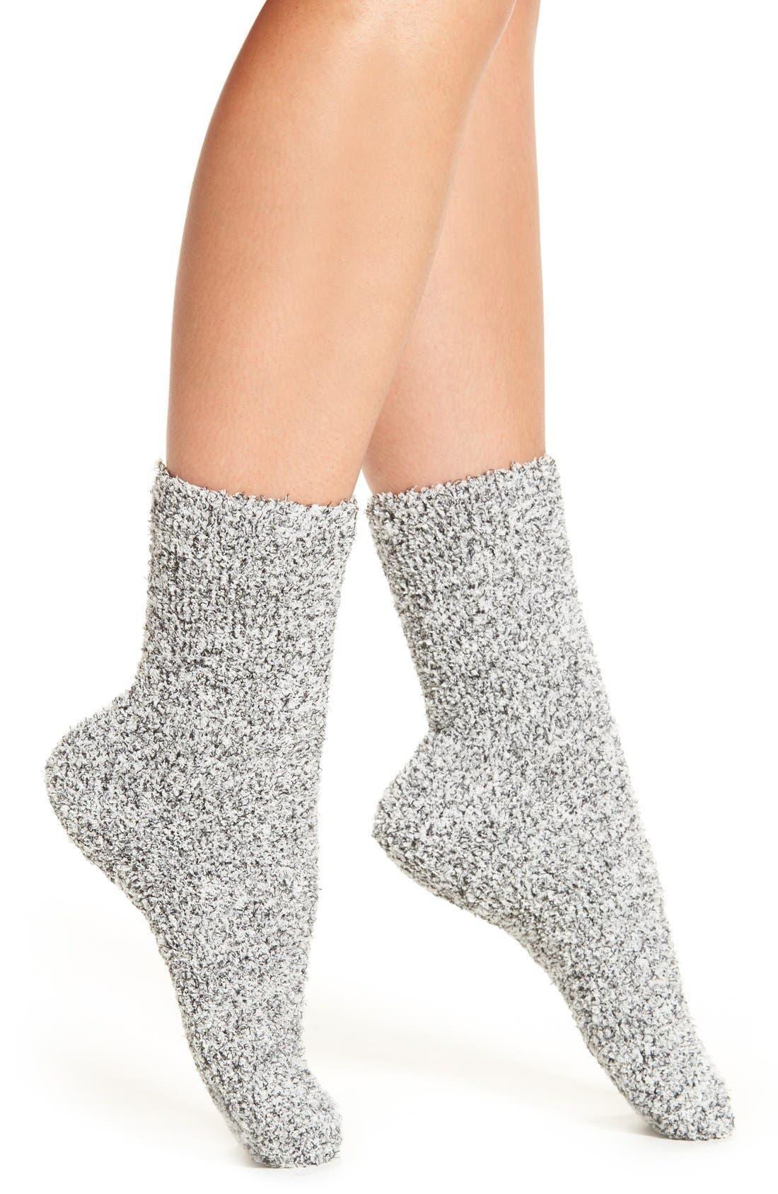 Butter Slipper Socks,                         Main,                         color, Black Marled