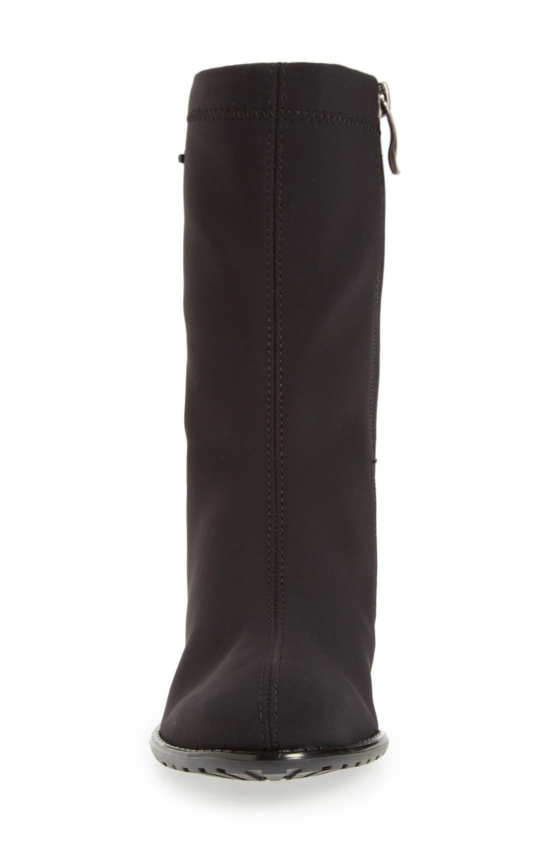 'Fairfax' Waterproof Gore-Tex<sup>®</sup> Block Heel Boot,                             Alternate thumbnail 3, color,                             Black Fabric