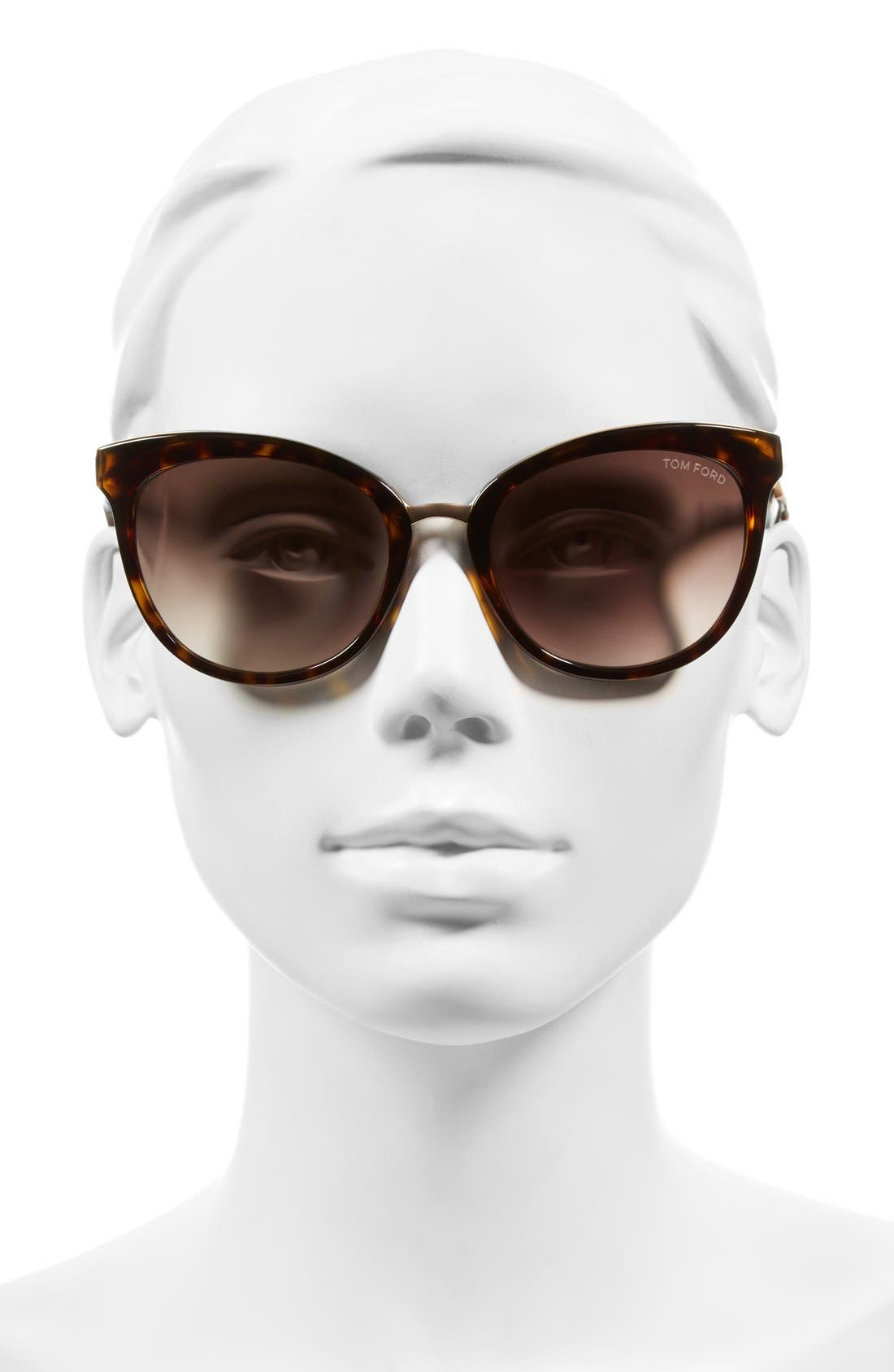 'Emma' 56mm Retro Sunglasses,                             Alternate thumbnail 2, color,                             Dark Havana/ Brown Mirror